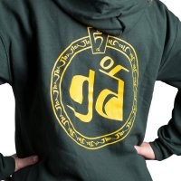 Zip-up Hoodie Forest Green Back with TNP logo