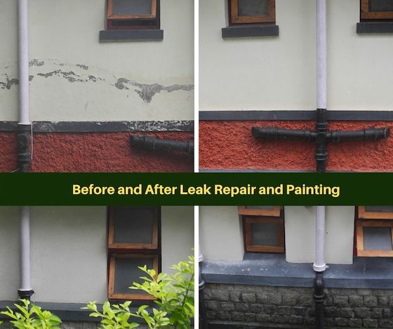before and after leak repair