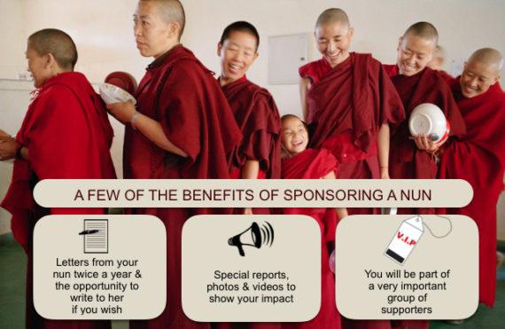 sponsor a Tibetan Buddhist nun.