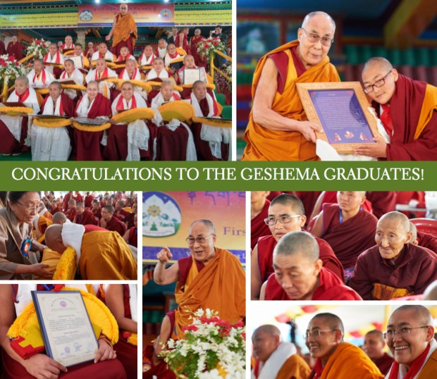 Geshema, Geshema nuns, Tibetan nuns, His Holiness the Dalai Lama