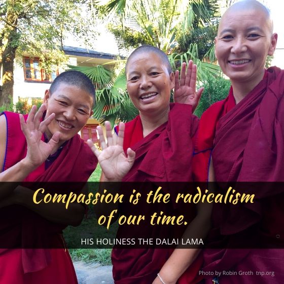 compassion is the radicalism of our time Dalai Lama photo by Robin Groth