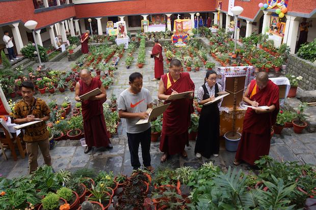 flower contest, Dolma Ling Nunnery, Tibetan Nuns Project