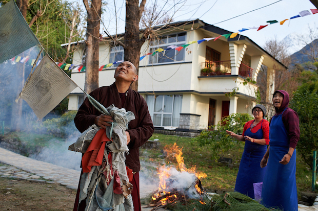 How to hang and dispose of Tibetan prayer flags respectfully