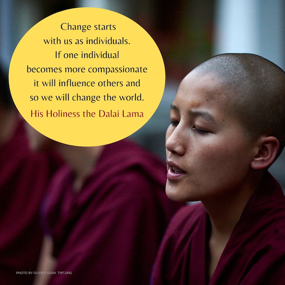 inspirational quote from the Dalai Lama