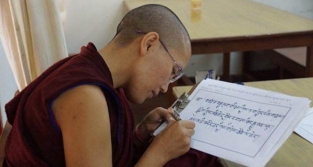 Tibetan Buddhist nun, Tibetan calligraphy