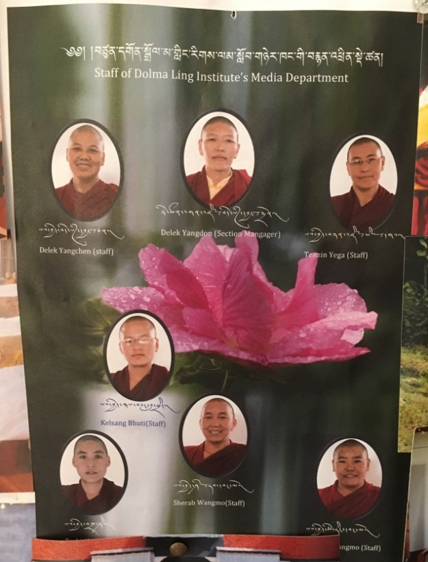 Tibetan Nuns Project, Tibetan Buddhism, nuns, Nuns' Media Team, Dolma Ling Nunnery, Tibetans, prayer hall, Tibetan prayers, Dolma Ling Nunnery