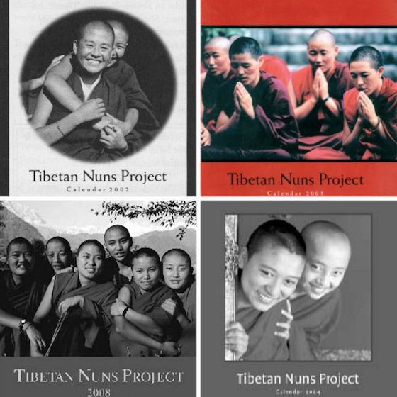 selection of old Tibetan Nuns Project charity calendars