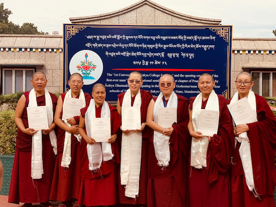 Seven Sakya nuns received their Kachupa Degree