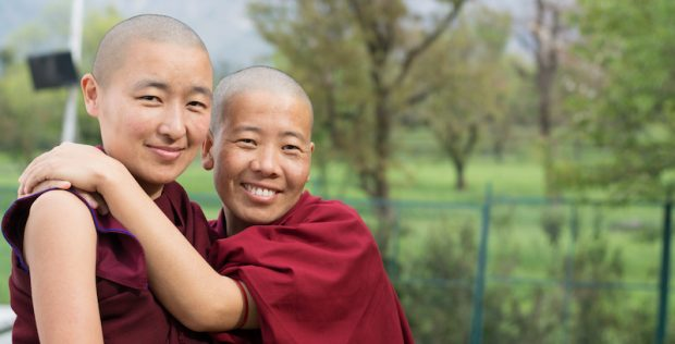 two Tibetan Buddhist nuns, Tibetan Nuns Project