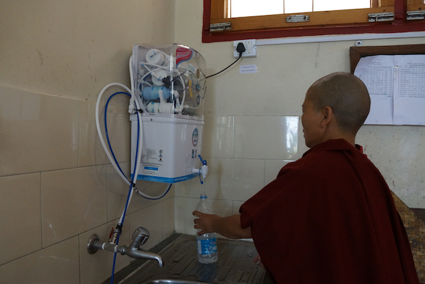 water filter Dolma Ling Nunnery, clean water