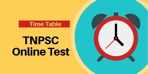 TNPSC ONLINE TEST AUGUST TIME TABLE