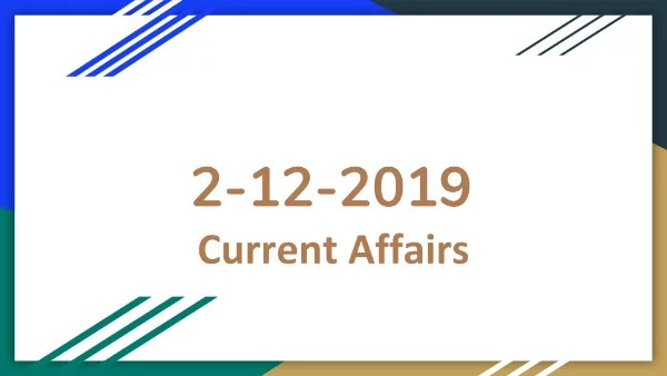 TNPSC Current Affairs Ayakudi 02-12-2019