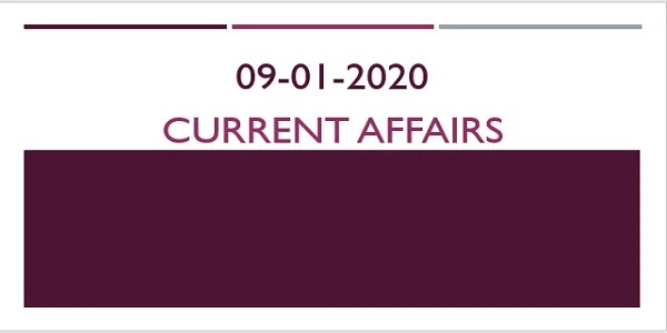 TNPSC Current Affairs 09-01-2020