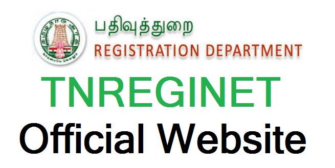 TNREGINET Official Website - tnreginet-org-in