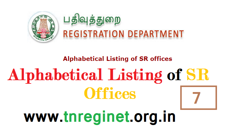 Alphabetical Listing of SR offices - tnreginet-net-in - 07