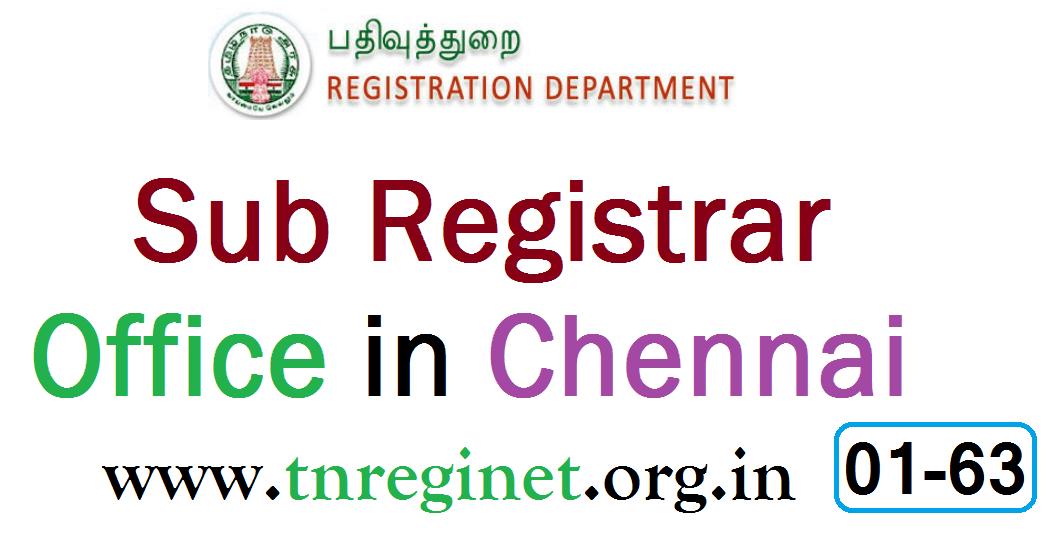 Sub Registrar Office in Chennai - tnreginet-org-in - 01