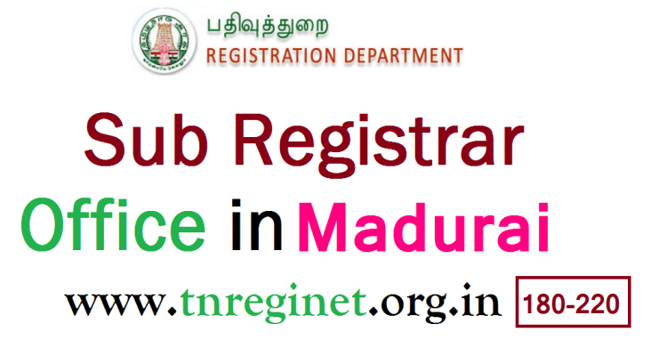Sub Registrar Office in Madurai - tnreginet-org-in