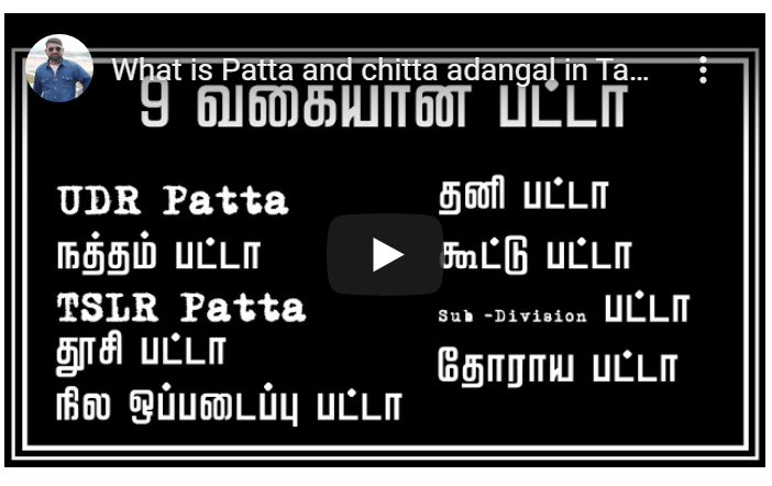 What is Patta and chitta adangal