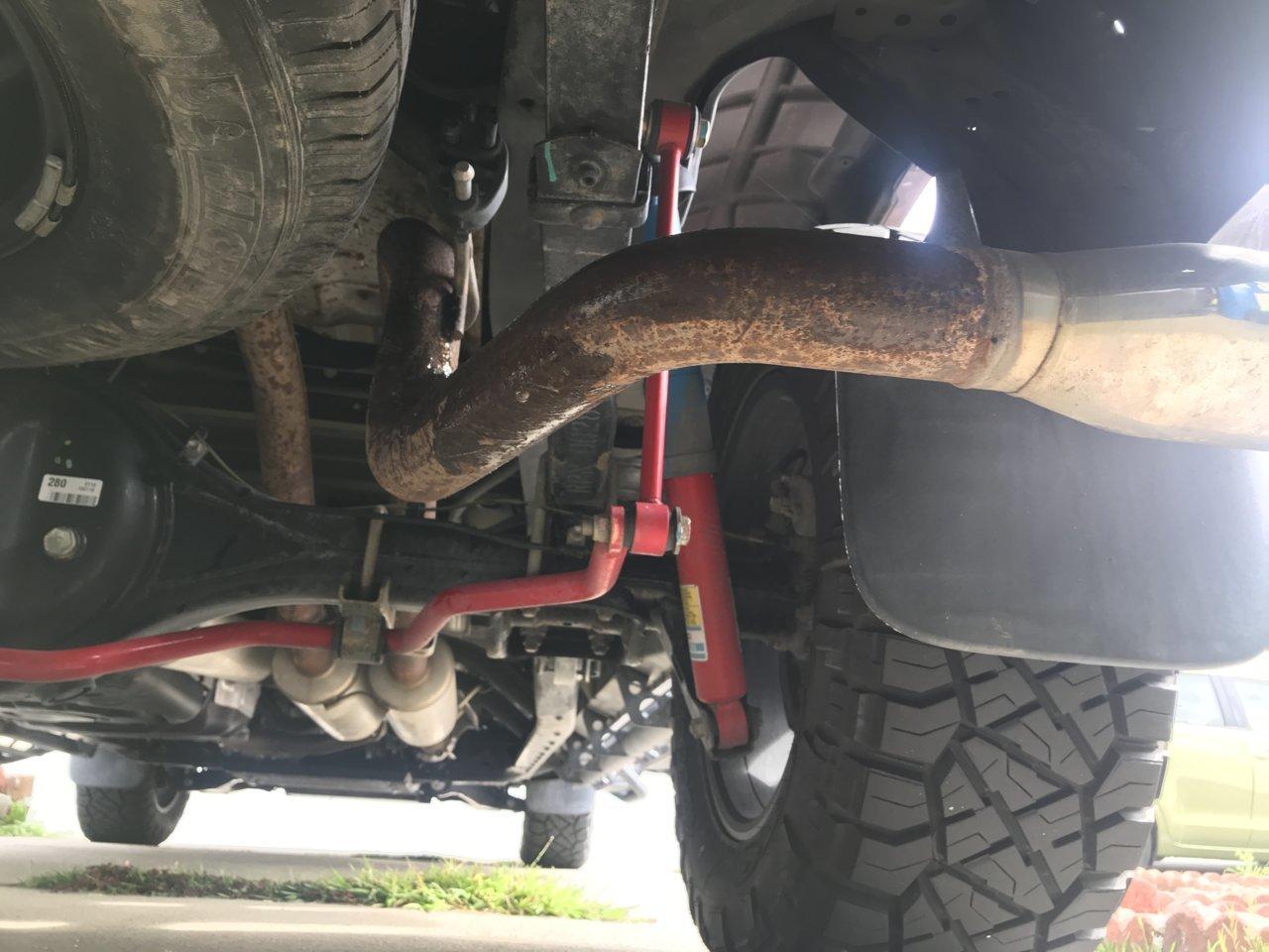 trd dual exhaust rust problem