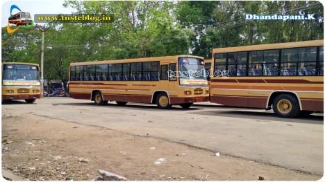 Queue of buses Near TNSTC-Madurai HO