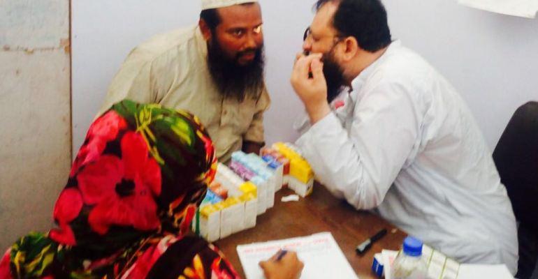 Free Eye Care Camp at Ibrahim Haideri