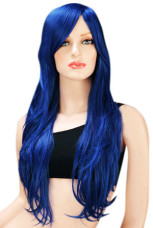Halloween Hair Wigs Black & Blue Women 80cm Long And Wavy Fashion Carnival wig from Milanoo.com