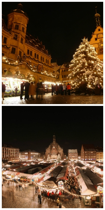 Christmas Market in Rotheburg ob der Tauber and Nuremberg Germany to-europe.com