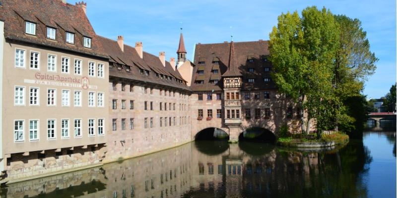 Bavaria Innsbruck Lake Constance Rail Tour, View the Heilig-Geist Spital Nuremberg