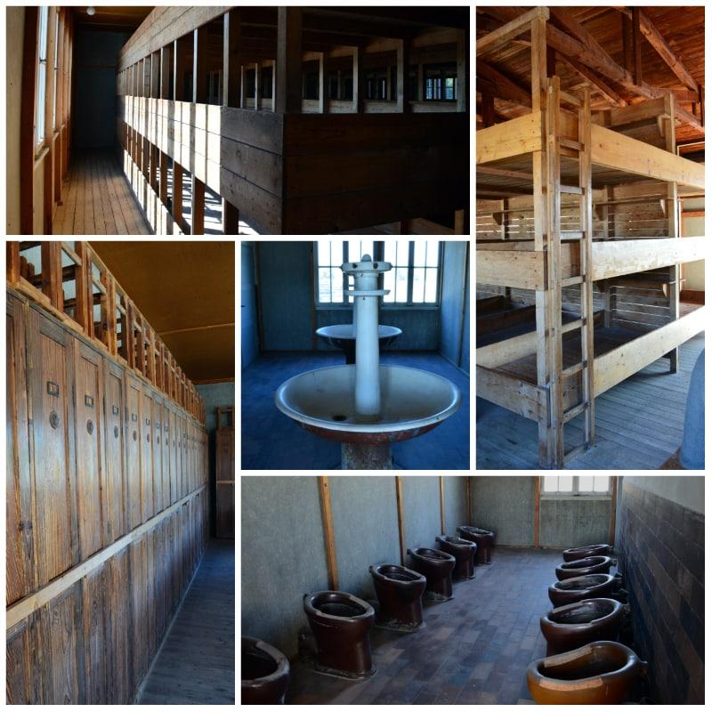 Dachau Memorial Site, Interior of Barracks in Dachau Concentration camp