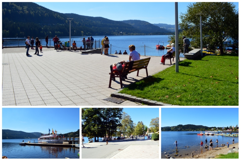 Lake Titisee shores in the Black Forest near Freiburg Germany