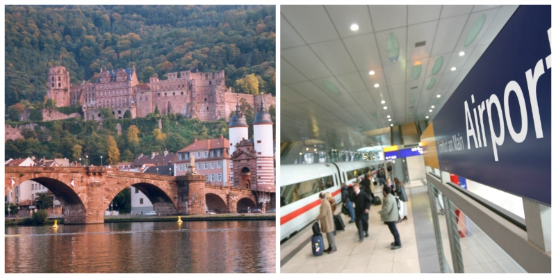 Luther Rail Tour Berlin Frankfurt, Heidelberg Castle, Old Bridge and Frankfurt Int. Airport
