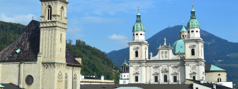 Central Europe Classic Luxury Rail Tour, Salzburg Cathedral Austria to-europe.com