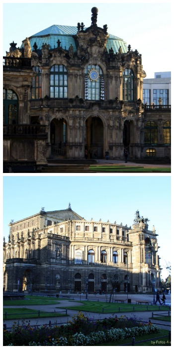imperial cities rail circle tour, Zwinger and Semper Opera Dresden Germany to-europe.com