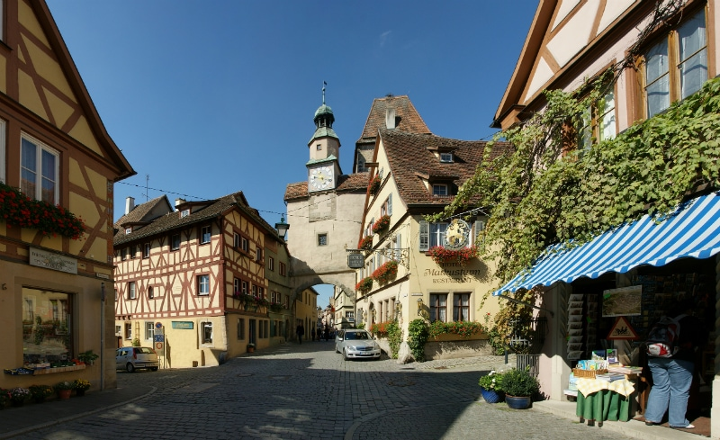 romantic road vacations, Rothenburg ob der Tauber Germany to-europe.com