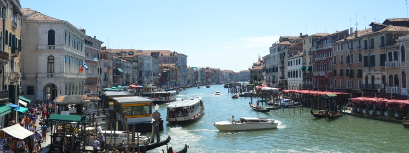 Frankfurt to Rome Rail Tour, Canale Grande Venice Italy to-europe.com