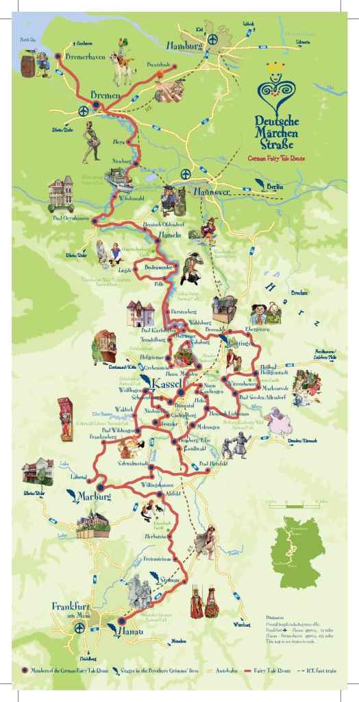 Map German Fairy Tale Route