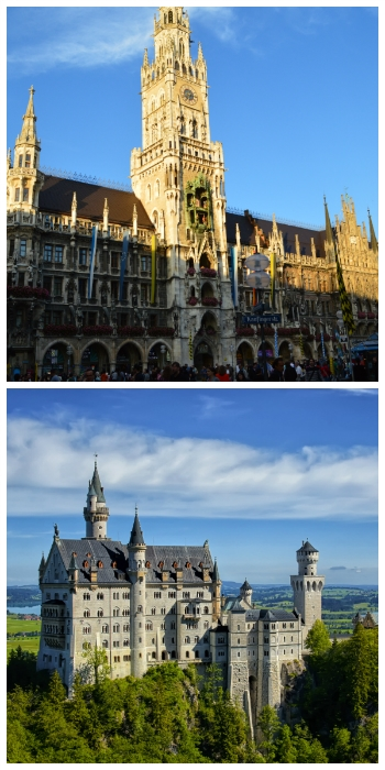 Bavaria Heidelberg Circle Car Tour. Munich New Town Hall and Neuschwanstein Castle Bavaria Germany to-europe.com