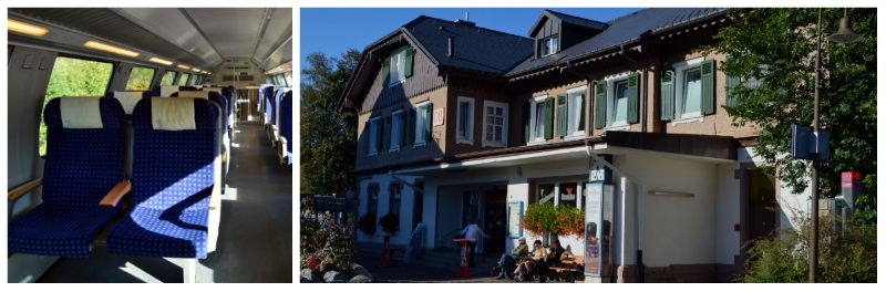 German Holiday Tours by Rail, Regional Rail Compartment, Hinterzarten Black Forest Station