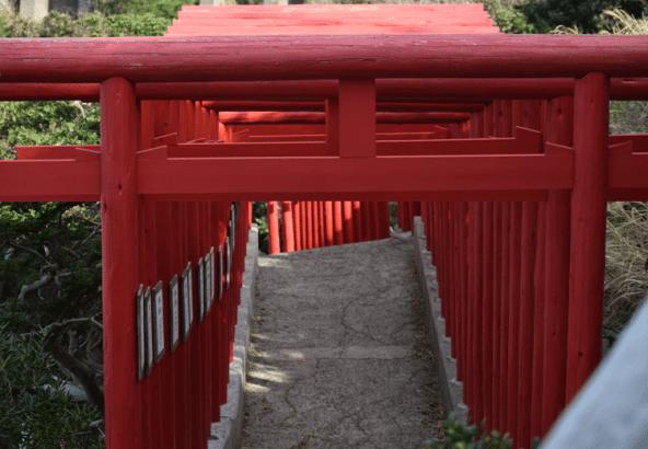 稲成神社 鳥居 大