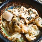 【アカモクレシピ】厚揚げ・長芋・春キャベツのさっとアカモク味噌煮