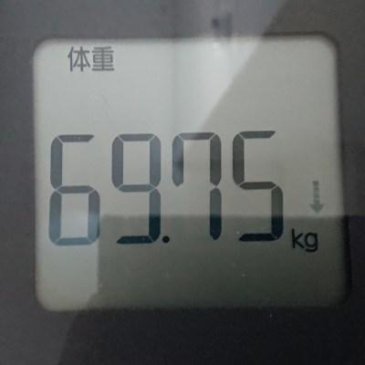 69.75kg 体重計