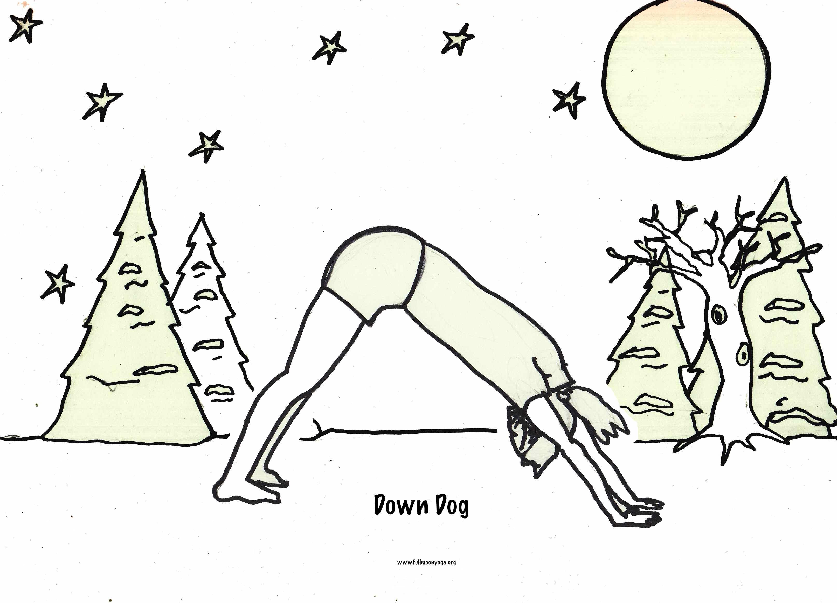 November Coloring Sequence Snow Sport Yoga