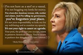 Becky Garritson addressing Congress