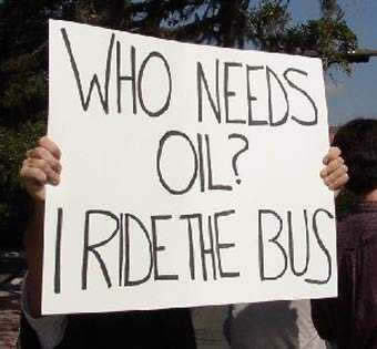 Who Needs Oil I Ride The Bus