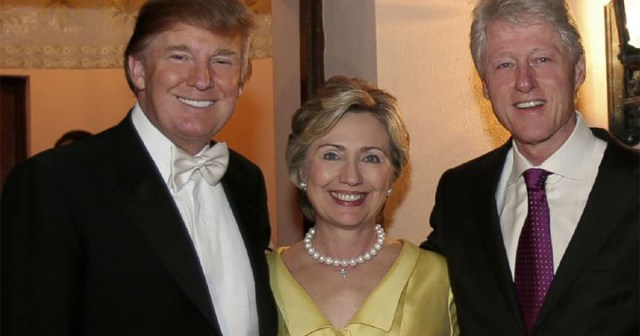 Trump with Bill and Hillary