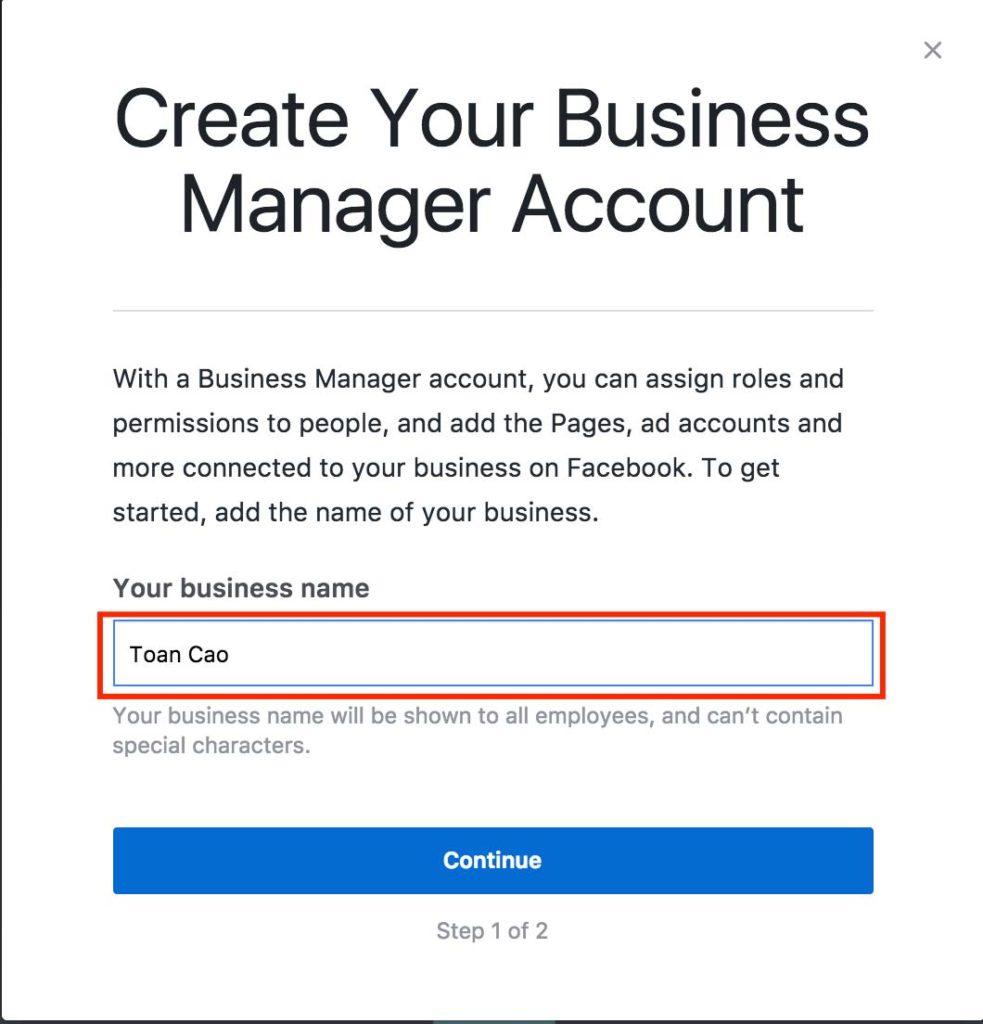 huong dan cai dat va su dung facebook business manager