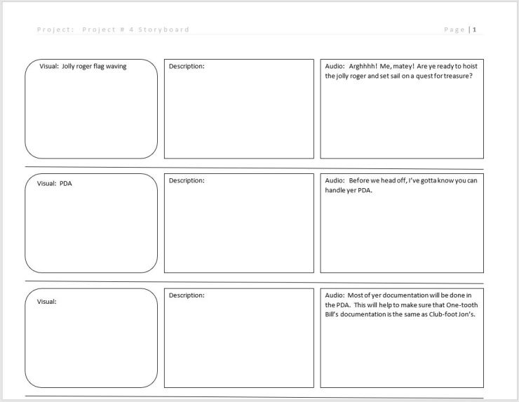 Project   Storyboard  It Multimedia Design
