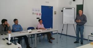 Luis en un intervención de la sesión Toastmasters Málaga