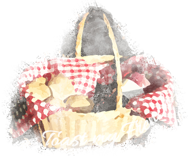 Panier petit chaperon rouge Toast my French