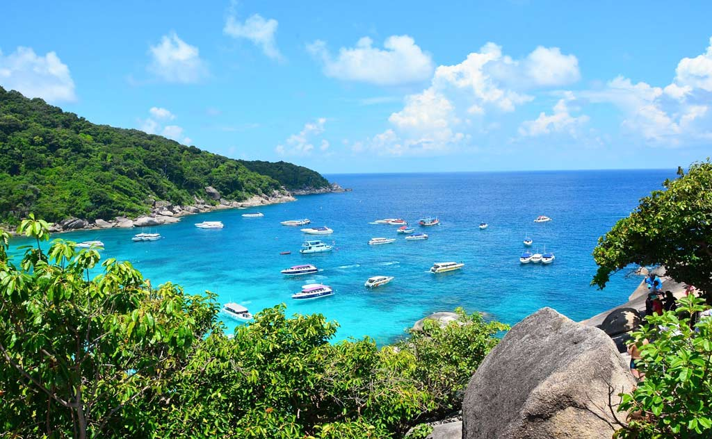 A day trip to Similan Islands near Phuket is a great option